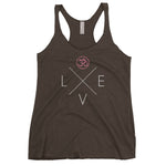"""Love"" Ladies Triblend Racerback Tank"