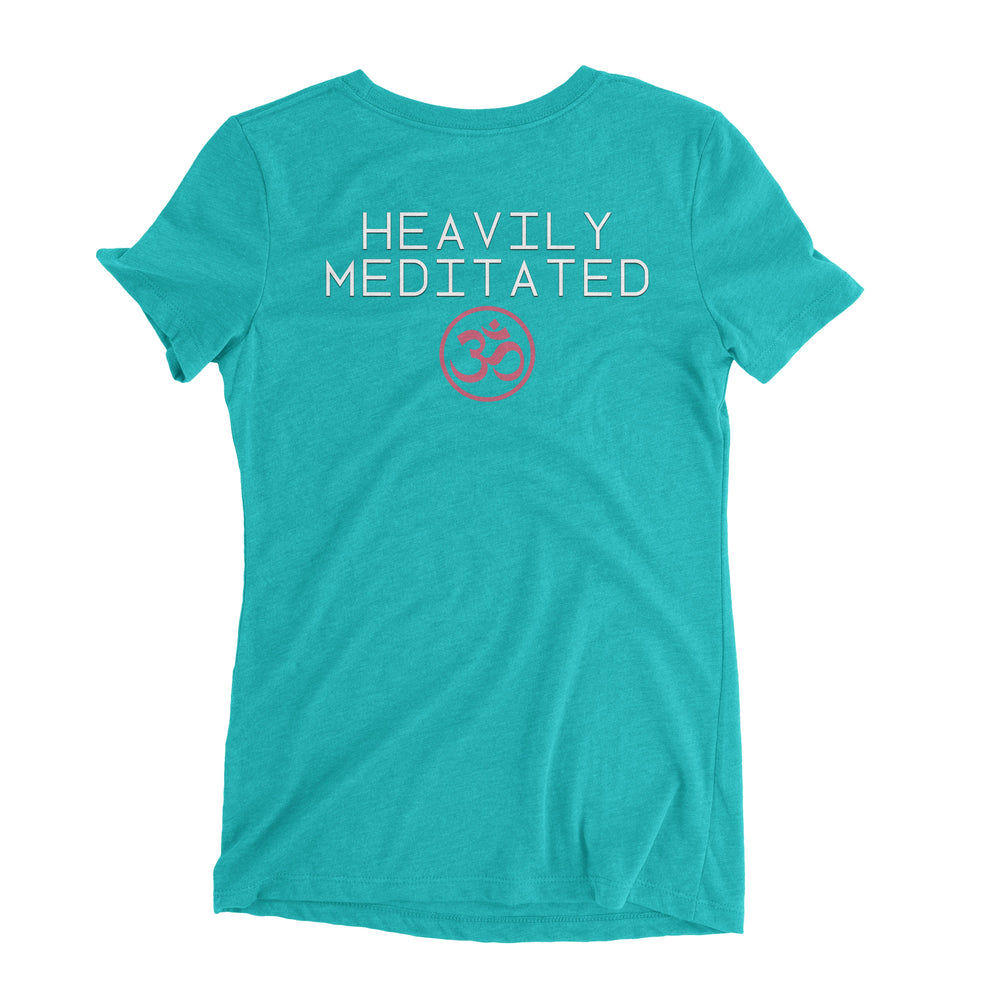 """Heavily Meditated"" Ladies' Triblend T-Shirt"