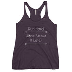 """Run Hard"" Ladies' Triblend Racerback Tank"