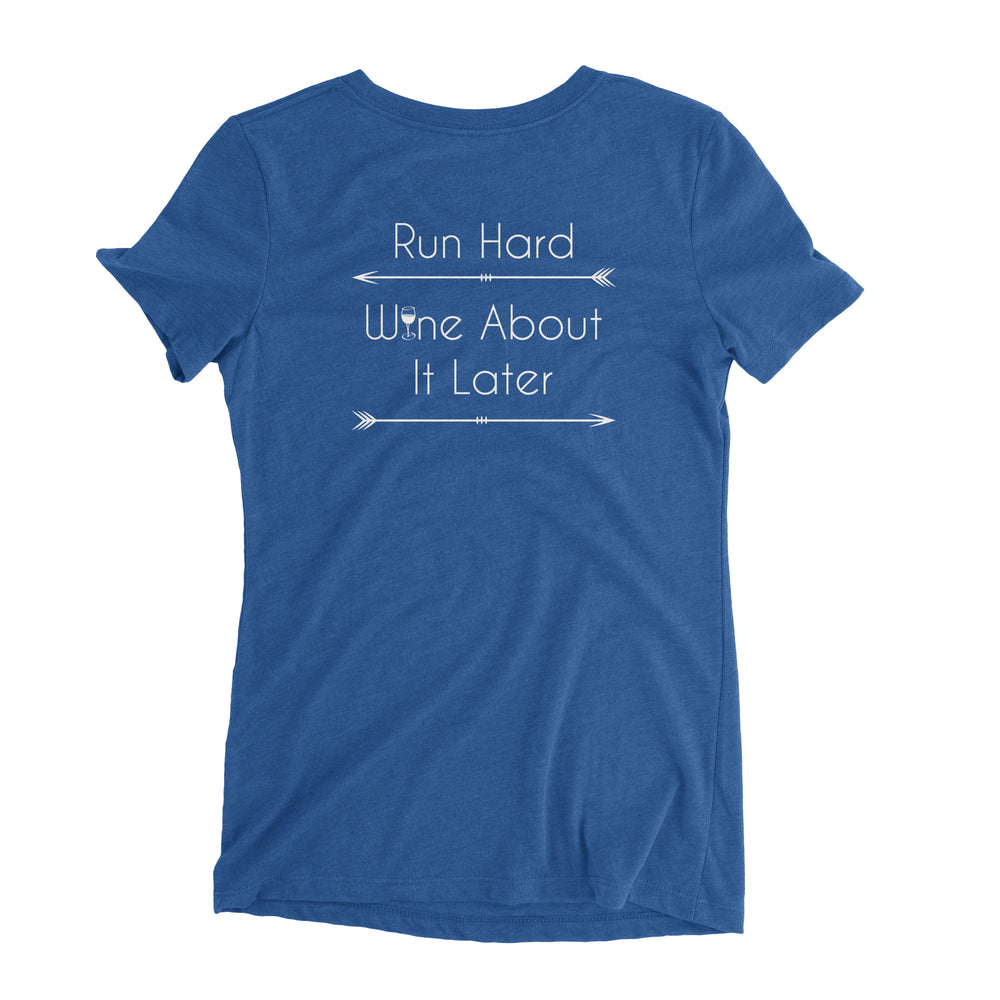 """Run Hard"" Ladies' Triblend T-Shirt"