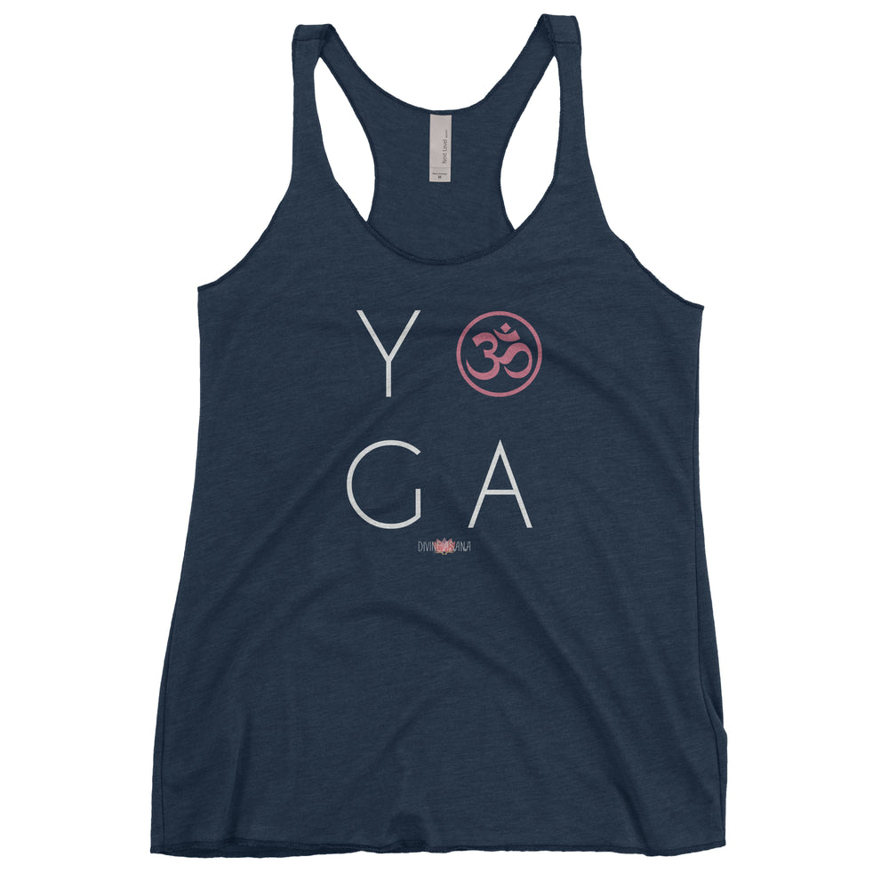 """Yoga Om"" Ladies' Triblend Racerback Tank"
