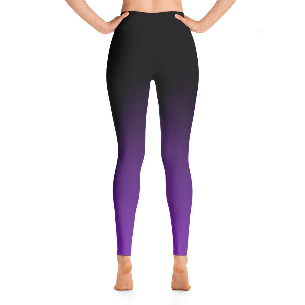 """Basic Purple Ombre"" Yoga Pants"
