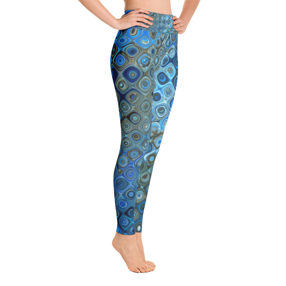 """Blue Swirl"" Yoga Pants"