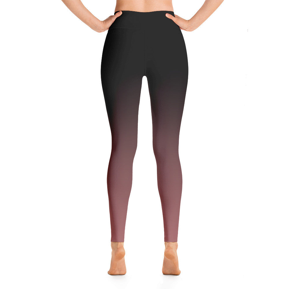 """Basic Pink Ombre"" Yoga Pants"