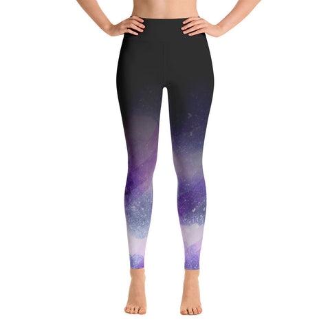 """Purple Cosmo Ombre"" Yoga Pants"