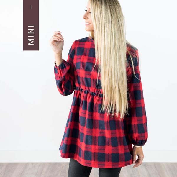 Ivy Plaid Top in Red