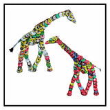 Recycled Bottle Cap Giraffe