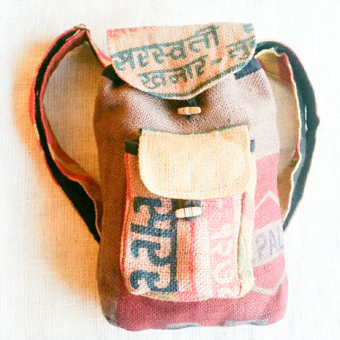 Recycled Jute Rice Bag Back Pack