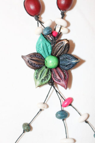 Adjustable Flower Necklace and Earrings