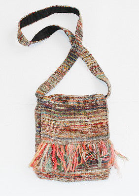 Medium Recycled Silk Sling with Tassels