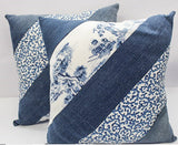 Recycled Jeans Decorative Pillows- Set of 2