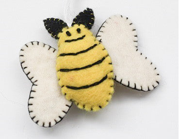 Handmade Bumble Bee Ornament