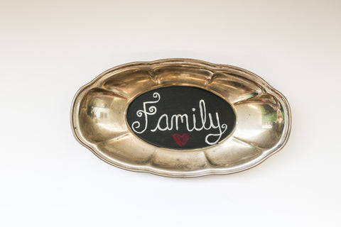 Family Antique Platter