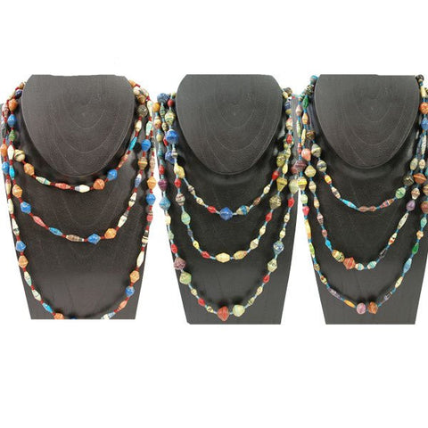Glossy Paper Necklace- Long