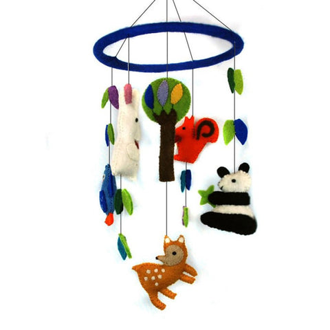 Felted Wool Hanging Animal Mobile
