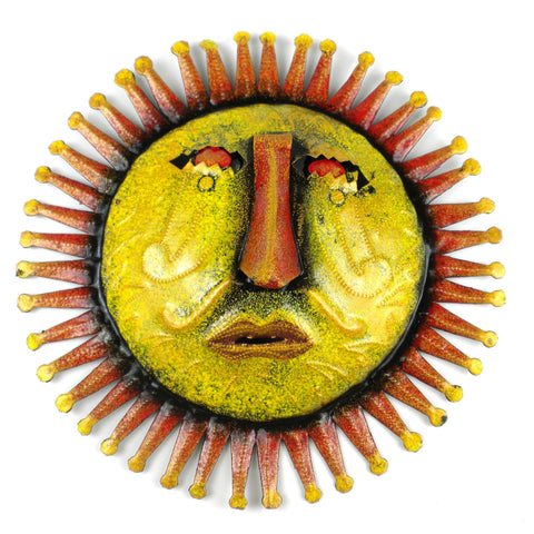 Painted Sun Metal Wall Art