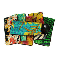 Kantha Eyeglass Case with Picot Trim