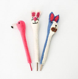 Handmade Felt Animal Pencils
