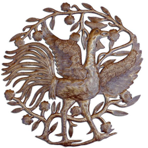 Rooster Metal Wall Art