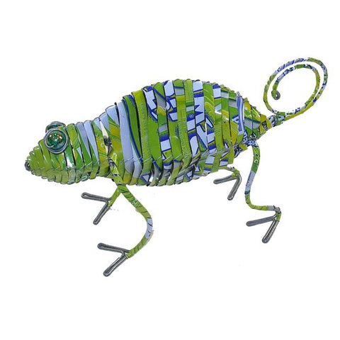 Recycled Tin Chameleon