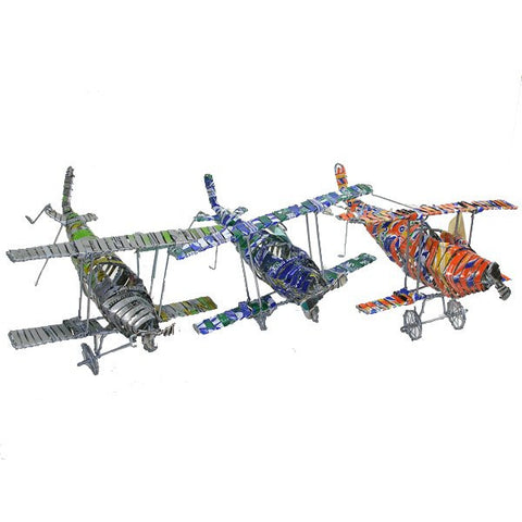 Recycled Tin Bi-Plane