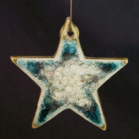 Recycled Glass Star Ornament