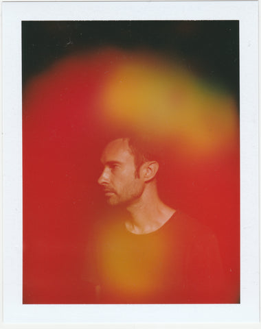 This is an aura photo of Michael from Halo Auragraphic, his aura is red, yellow, green and tan.