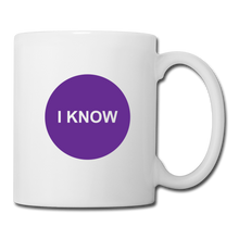 Load image into Gallery viewer, I KNOW - Crown Chakra Tea + Coffee Mug - white