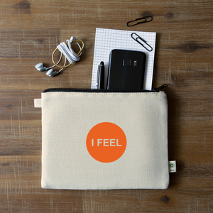 I FEEL - Sacral Chakra Hemp Carry All Pouch - natural
