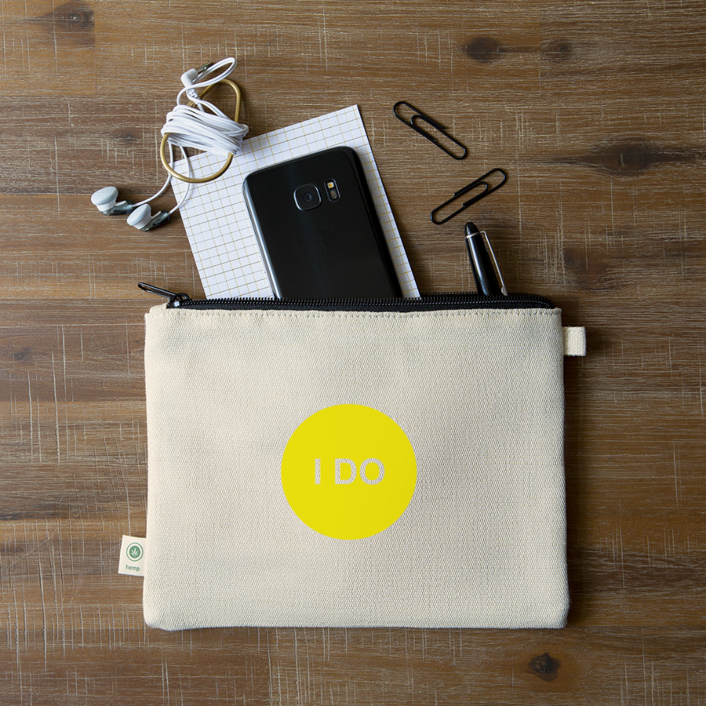 I DO - Solar Plexus Chakra Hemp Carry All Pouch - natural