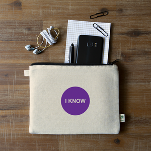 I KNOW - Crown Chakra Hemp Carry All Pouch - natural