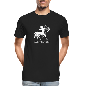 Sagittarius Sign Men's Premium Organic T-Shirt - black