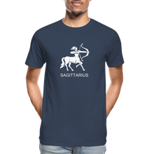 Load image into Gallery viewer, Sagittarius Sign Men's Premium Organic T-Shirt - navy