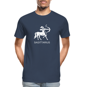 Sagittarius Sign Men's Premium Organic T-Shirt - navy