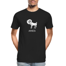 Load image into Gallery viewer, Aries Sign Men's Premium Organic T-Shirt - black