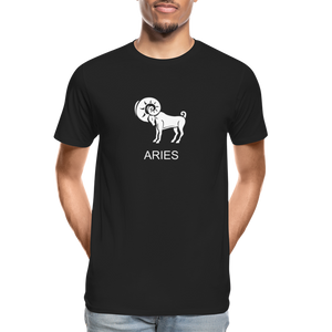 Aries Sign Men's Premium Organic T-Shirt - black