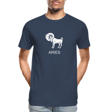Load image into Gallery viewer, Aries Sign Men's Premium Organic T-Shirt - navy