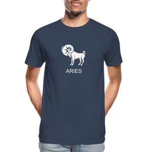 Aries Sign Men's Premium Organic T-Shirt - navy