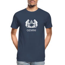 Load image into Gallery viewer, Gemini Sign Men's Premium Organic T-Shirt - navy