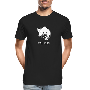 Taurus Sign Men's Premium Organic T-Shirt - black