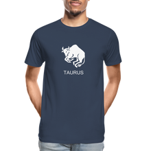 Load image into Gallery viewer, Taurus Sign Men's Premium Organic T-Shirt - navy