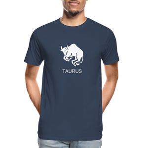 Taurus Sign Men's Premium Organic T-Shirt - navy