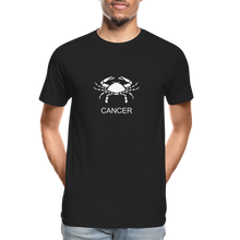 Load image into Gallery viewer, Cancer Sign Men's Premium Organic T-Shirt - black
