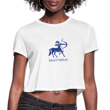 Load image into Gallery viewer, Sagittarius Sign Women's Cropped T-Shirt - white