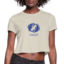 Load image into Gallery viewer, Pisces Sign Women's Cropped T-Shirt - dust