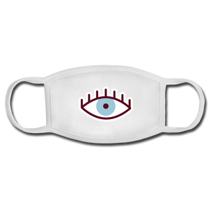 Third Eye Face Mask - white/white