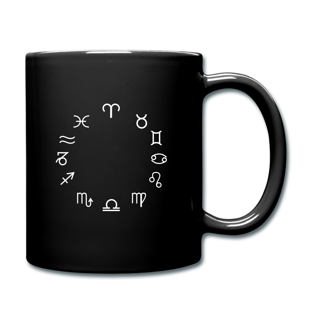 Zodiac Circle Full Color Mug - black