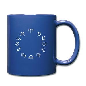 Zodiac Circle Full Color Mug - royal blue