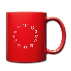 Zodiac Circle Full Color Mug - red