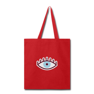 Third Eye Canvas Tote Bag - red